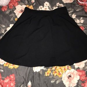 black skater skirt size Medium
